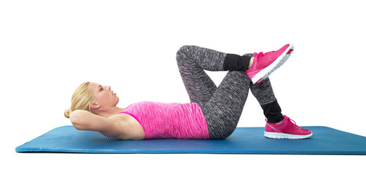Exercise outfit lying on the floor
