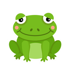 illustration of isolated frog on white background