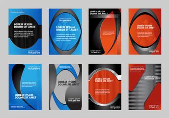 Vector green  brochure template design. EPS 10