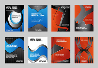 Set of business flyer template brochure/design with place for your content