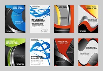 Flyer design collection cover design, brochure or document folder