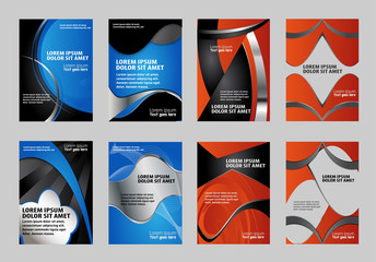 Brochure design set vector
