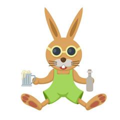 illustration of isolated  rabbit on white background