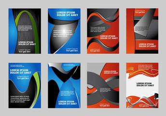 design for business flyer vector set