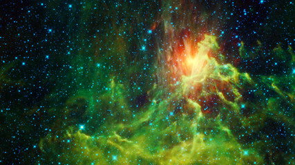 Beautiful bright galactic nebula