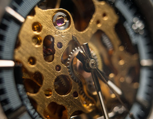 Photo: Detailed shot of a vintage watch or old watch.