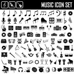 Obraz musical instruments icon set - fototapety do salonu