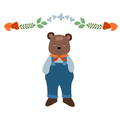 Small Bear in Clothes