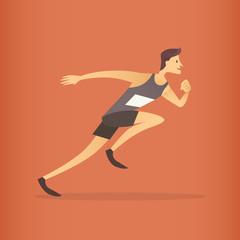 Running Athlete Sprinter Sport Competition
