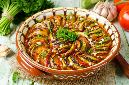 Ratatouille - traditional French Provencal vegetable dish cooked