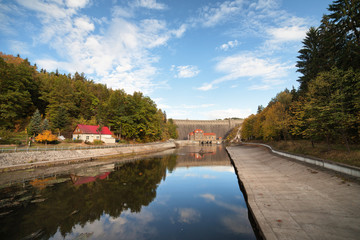 Pilchowice Dam and Canal in Poland