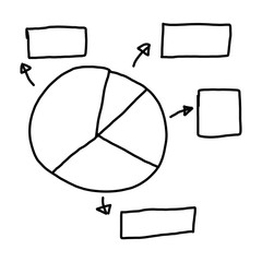 Hand drawn a graphics symbols geometric shapes graph to input in