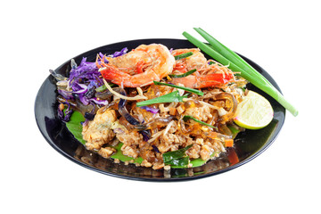 Stir fried Seaweed glass line with Shrimp (Pad Thai)