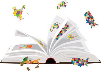 libro di geografia