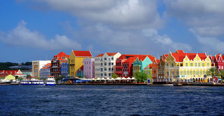 Poster Caraïben Willemsted Curacao Bright Buildings