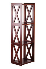 Brown wooden shelving