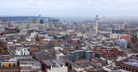 An Aerial View of Liverpool Looking Northwest