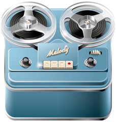 Reel-to-reel audio tape recorder icon