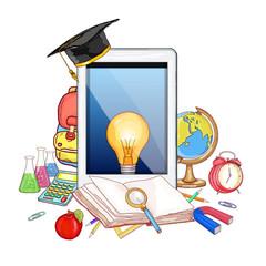 Online education modern effective learning vector