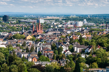 Blick auf Wiesbaden vom Neroberg