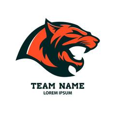 Puma head logo template. Design element