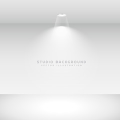 studio background with spot light