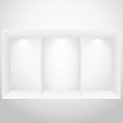 empty display window
