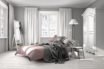 Schlafzimmer mit Doppelbett, Jugendschlafzimmer