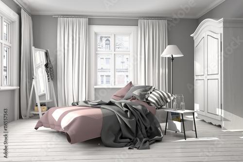 Schlafzimmer mit Doppelbett, Jugendschlafzimmer\