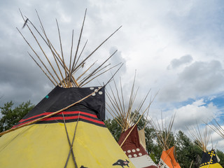 Teepee at the Indian Village on the stampede grounds.