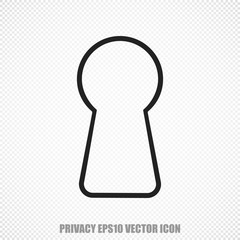 Security vector Keyhole icon. Modern flat design.