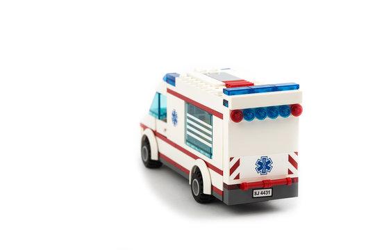 Toy ambulance car