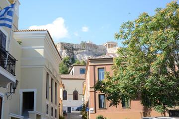 Plaka area under Acropolis Athens Greece