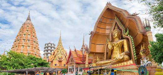 Temple landmark  buddha pagoda golden statue,wat tham sua, thamu