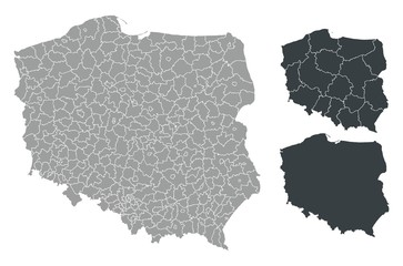 Detalied Poland map