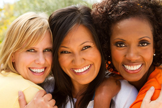 Diverse Group of Friends Laughing