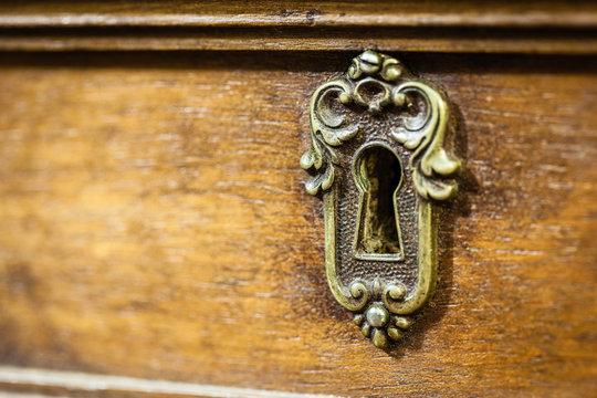 Old desk keyhole