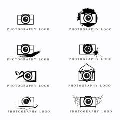 Photographer logo set