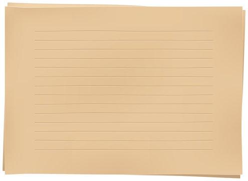 クラフト紙の便箋