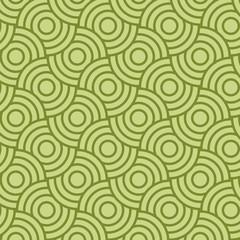 Green circles pattern background. Seamless vector pattern. Geometric shape vector.