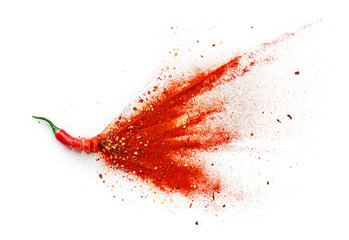 Papiers peints Hot chili Peppers Chilli, Red Pepper Flakes and Chilli Powder