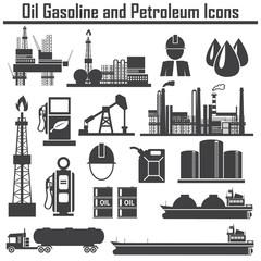 Oil  icon set Energy & technology ,vector