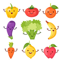 Healty food cartoon representing icons set