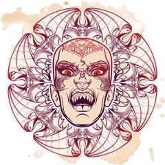 Lilith sketch on grunge background