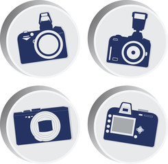 Fotocamera Four icons.Vector image for website or phone.