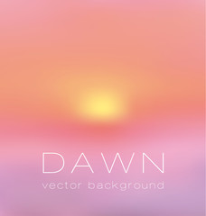 sunrise pastel pink concept background. dawn vector illustration
