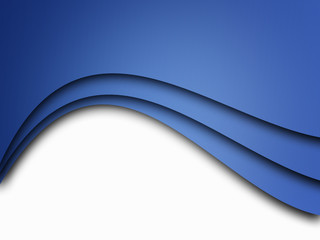 Blue background curve line on white background