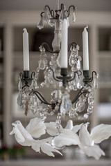 antique candlestick with candles