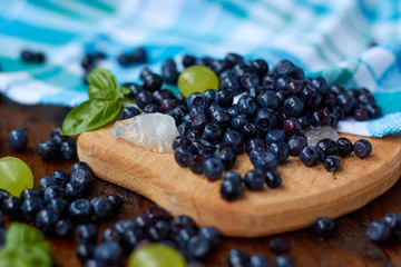Blueberry with ice