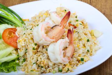 Fried rice with prawn